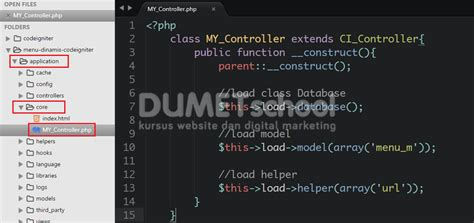 cara membuat menu dropdown menggunakan php cara membuat menu dinamis menggunakan codeigniter dan