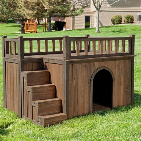 how to heat outside dog house boomer george stair case dog house dog houses at hayneedle