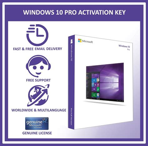 Windows 10 Pro Lisensi Activation Original 100 License 32 64 Bit genuine microsoft windows 10 pro professional 32 64bit oem license key code ebay