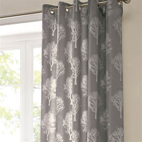 charcoal and white curtains eyelet curtains woodland charcoal eyelet curtains