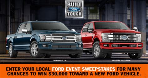 Ford Event Giveaway - ford event sweepstakes 2018 fordeventsweepstakes com