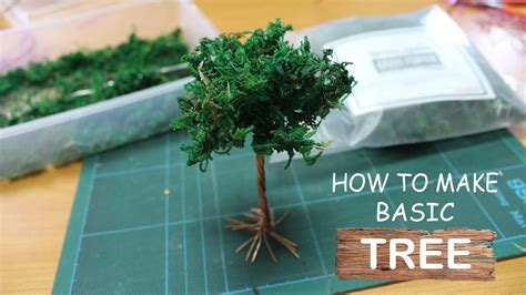 How To Make A Paper Tree For - diorama tutorial how to make basic tree