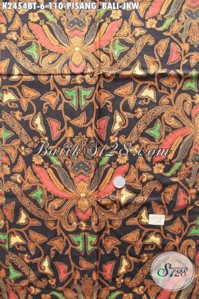 Kain Batik Printing Bt 018 batik klasik motif pisang bali jokowi kain batik halus elegan proses kombinasi tulis untuk baju