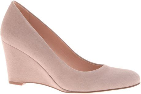 j crew martina suede wedges in pink pale thistle lyst