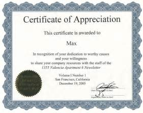 Certificate Of Appreciation Template Word by Certificate Of Appreciation Template Word