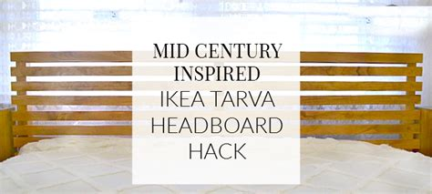 tarva bed hack how i made it mid century inspired ikea tarva bed hack