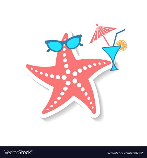 Website Of The Week Starfish by Starfish Royalty Free Vector Image Vectorstock