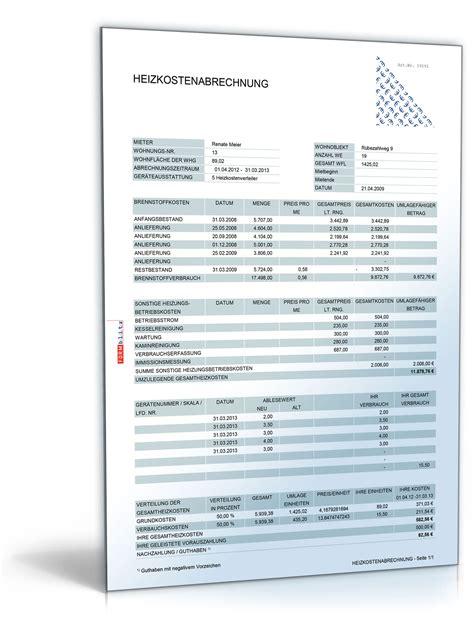 Muster Nebenkostenabrechnung Excel Kostenlos Heizkostenabrechnung De Tabelle