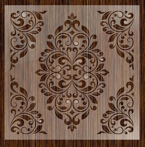 17 Best Images About Tole Painted Crafts And 17 Best Images About Damask Stencils On