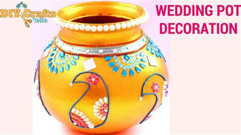 Pot Decoration by Wedding Pot Decoration Clay Pot Decoration Janmashtami