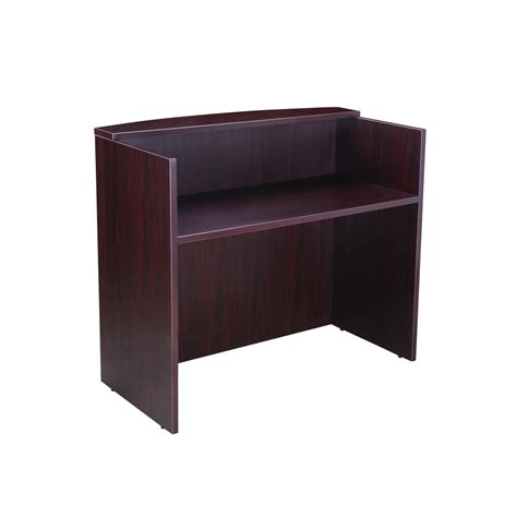 Boss 48 Quot Reception Desk Mahogany Mahogany Reception Desk