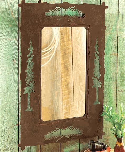 Pine Tree Metal Mirror