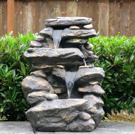 backyard fountains and waterfalls 29 wonderful outdoor waterfall fountains pixelmari com