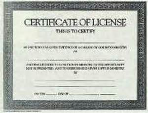 Software License Certificate Template Certificate Of License