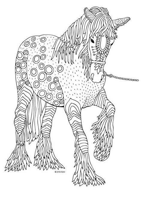 coloring pages of horses for adults the illustration by keiti coloring books