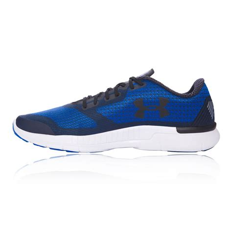 armour sports shoes armour charged lightning mens blue running sports