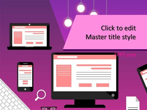 computer illustration powerpoint template