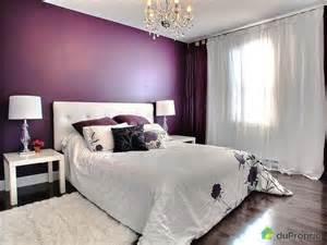 Chambre Prune Et Blanc