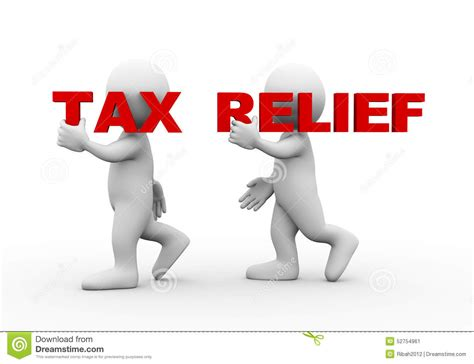 Tas Relief 3d word text tax relief stock illustration image 52754961