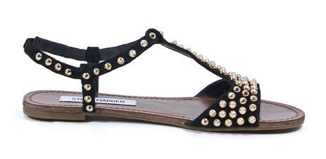 steve madden studded sandals steve madden leather nickiee gold studded black suede