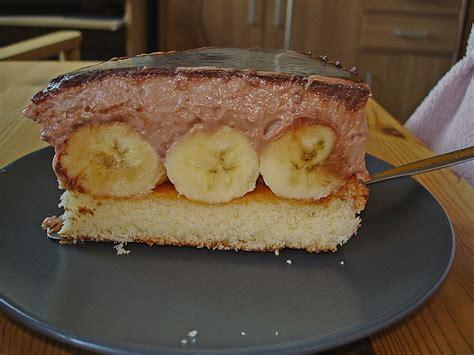 bananen sahne kuchen bananen sahne schoko torte rezept mit bild