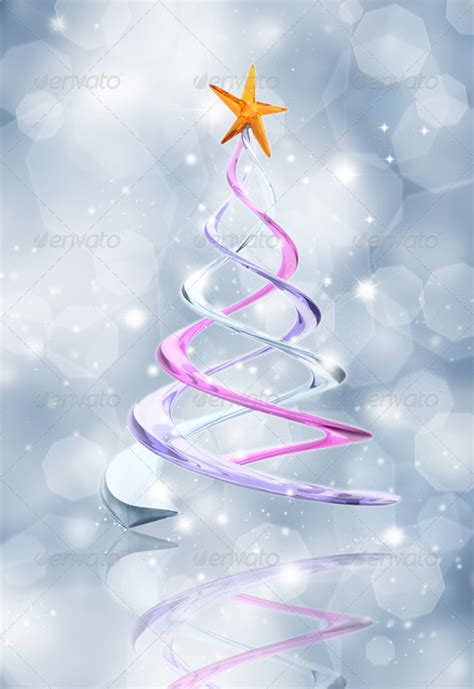 abstract christmas tree background by kjpargeter