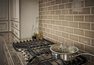 Trends In Kitchen Backsplashes chocolate glazed ceramic subway tile