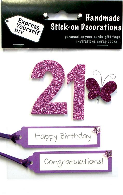 Pink Handmade Cards - pink 21st birthday diy greeting card toppers personalise