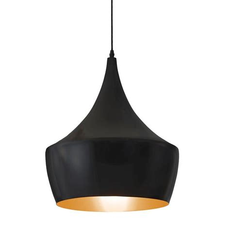 Black Light Pendant Zuo Copper 1 Light Matte Black Ceiling Pendant 98247 The Home Depot