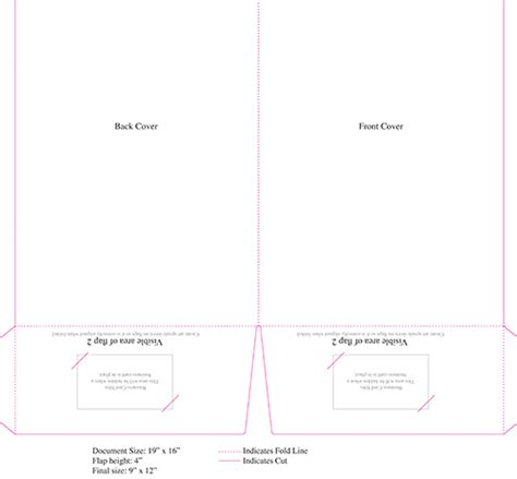 pocket folder template illustrator pocket folder templates central printing