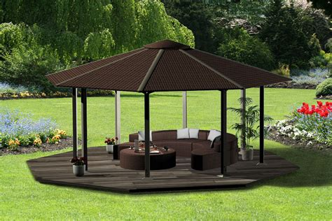 how to build a backyard pavilion triyae com backyard gazebo plans various design