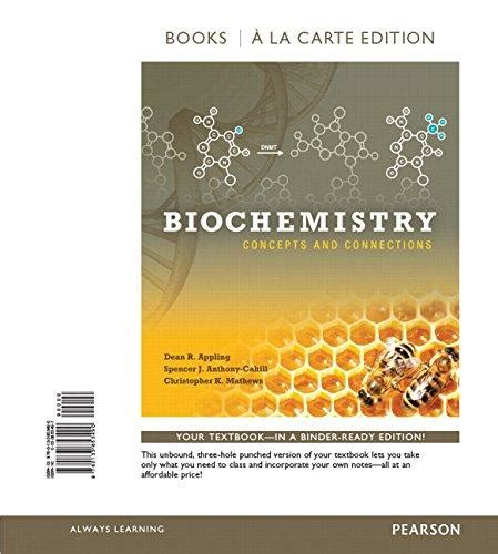 biochemistry concepts and connections books a la carte edition 2nd edition books isbn 9780133853490 biochemistry concepts and