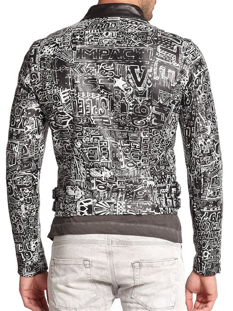 Black Graffiti Sweater 41983 diesel black gold graffiti print cropped leather jacket in black lyst