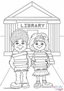 library coloring pages library colouring page