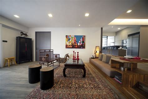 Apartment Livingroom singapore interior design home interior renovation
