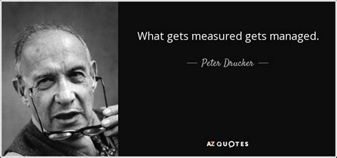Drucker Mba Tuition by Drucker Quote What Gets Measured Gets Managed
