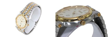 Gucci G80861a Combi Gold kaiul rakuten market store rakuten global market gucci 9000m mens quartz clock combi