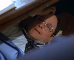 george costanza desk bed hung over thought id take a nap under my desk for the