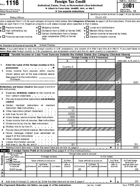 Tax Credit Form Not Arrived Publication 514 Foreign Tax Credit For Individuals Publication 514 Foreign Tax Credit For