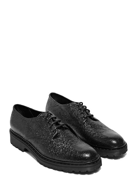 laurent mens sneakers laurent army 20 derby shoes in black for lyst