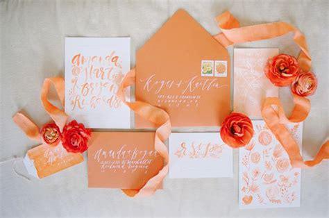 Orange Theme Wedding Invitations by Orange Gold Wedding Inspiration Colour Ideas