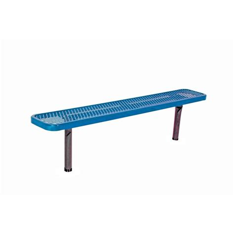 commercial benches ultra play 6 ft diamond blue in ground commercial park
