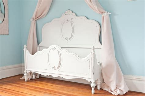 White Shabby Chic Bed Frame Antique Shabby Chic Bed Frame White Distressed Omg So