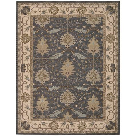 oasis rug and home nourison oasis blue 8 ft x 10 ft 6 in area rug 002174 the home depot
