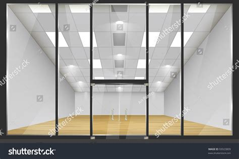 glass shop door shop glass windows doors front view stock vector 93923809