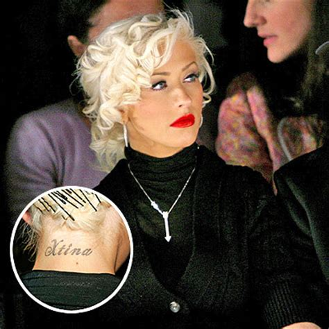 christina aguilera tattoos daily vibes aguilera xtina on the neck and
