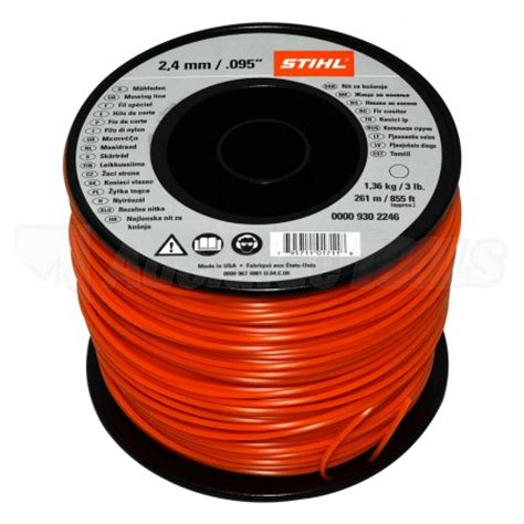 Magnetic Trimmer Orange stihl trimmer line 2 4mm 095 x 261m orange