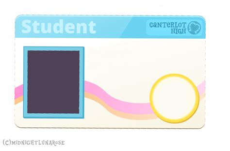 id card template transparent background blank student identity card www imgkid the image