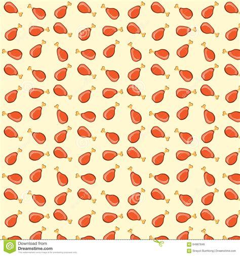 seamless pattern illustrator vector vector illustration fried chicken legs seamless pattern