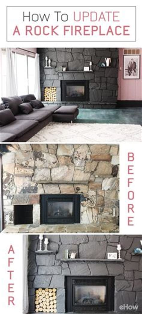 How To Rock A Fireplace by White Washed Fireplace Using Sloan Chalk Paint